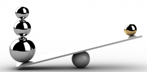 Hojdačka porovnáva váhy